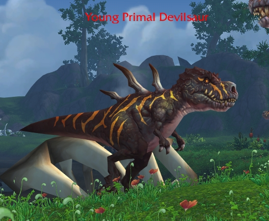 Young Primal Devilsaur Npcs Wowdb