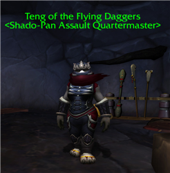 Teng of the Flying Daggers NPCs WowDB